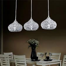 chrome finish modern 3 lights crystal chandelier pendant mobern lighting for impressive dining room lighting