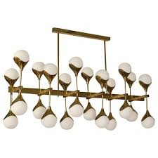 1980 in the manner of max ingrand brass and glass italian chandelier for