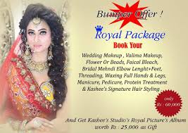 kashee s beauty parlour royal bridal package