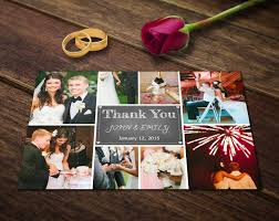 Postcard Collage Template Wedding Thank You Card Template Photoshop Templates