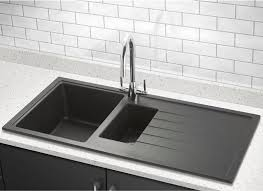 vellamo horizon black kitchen sink