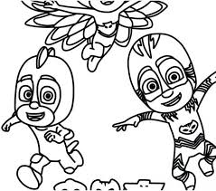 Pj Masks Coloring Pages Free Printable Kids Coloring 2018 Pervis