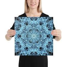 blue black mandala canvas spiritual