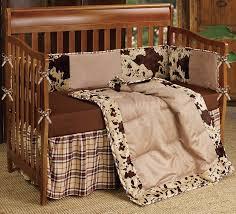 baby boy crib bedding set cowhide