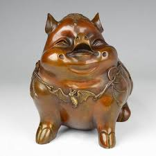 a copper copper pig defends by angle zhaocai decoration decoration feng shui fu pighead home furnishing in statues sculptures from home garden on angle feng shui