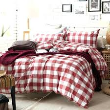 black and white buffalo check bedding red and white plaid duvet cover set for single or black and white buffalo check bedding
