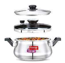 Prestige Kitchen Appliances Prestige Clip On Stainless Steel Pressure Cooker Handi 5 Litre