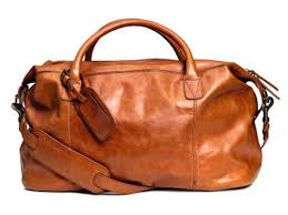 h m leather weekend bag