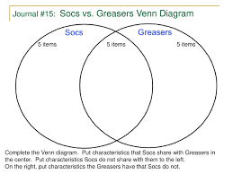 What Could Be Put Into The Center Section Of This Venn Diagram Venn Diagram Of Socs And Greasers Manual E Books