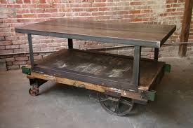 Industrial Factory Cart Coffee Table Industrial Factory Carts Hudson Goods Blog
