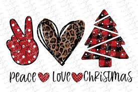 Peace Love Christmas Sublimation Design Graphic By Riryndesign Creative Fabrica