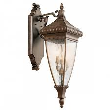 large ornate outdoor wall lantern matt