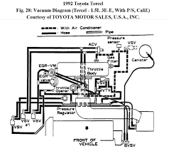 manifold intake diagram for tercel e attached images