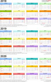 3 Year Calendar Three Year Calendars For 2018 2019 2020 Uk For Pdf