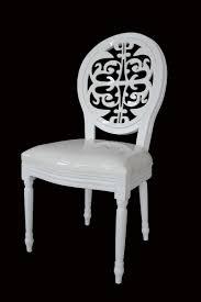 clear back louis chair  eclat decor