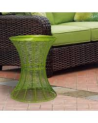 lime green patio furniture. adeco outdoor round iron wire side table bright green patio furniture lime