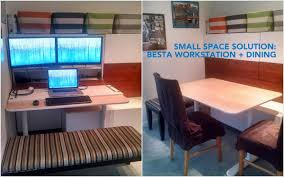 incredible office desk ikea besta. BESTÅ Hidden Office/ Dining Bench Incredible Office Desk Ikea Besta