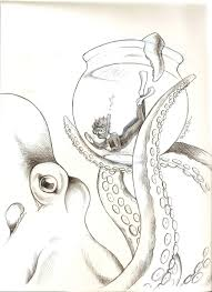Small Picture Octopus Mary P Williams Scientific Illustration