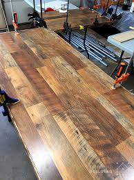 hardwood flooring table top