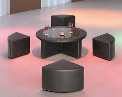 furniture beauty living room table with stools square coffee baskets underneath round glass and