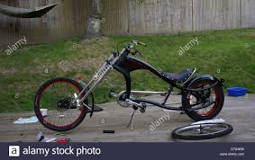 schwinn stingray spoiler chopper bicycle bike stock photo royalty