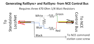 jmri hardware support standalone loconet® image showing circuit to create standalone loconet railsync from nce control bus control