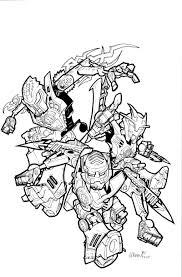 Tenkai Knights Kleurplaat Kleurplaat Tenkai Knights Tenkai Knights
