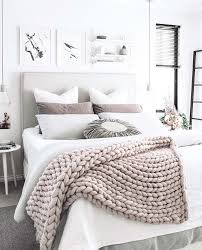 white bedroom decorating ideas.  Ideas A Chunky Knit Wool Throw Adds Texture And Interest To A Gray White  Bedroom To White Bedroom Decorating Ideas H