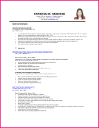 10 Resume Sample For Hrm Ojt