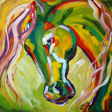 anastasia s dream equine contemporary art abstract horse painting by texas artist laurie pace