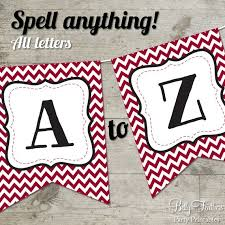 Printable Chevron Letters South Carolina Chevron Printable Banner Letters A Z Numbers