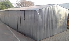 corrugated metal storage shed