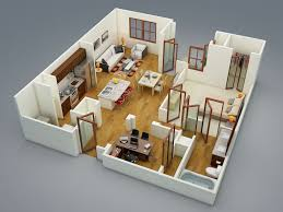 Bedroom ApartmentHouse Plans - Studio apartment floor plans 3d