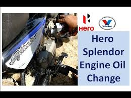 hero splendor bike engine oil change