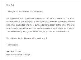 29 Rejection Letters Template Hr Templates Free Premium Job