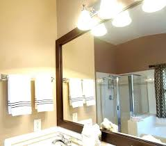 bathroom lighting above mirror. How Far Above Mirror Should Vanity Light Be Bathroom Lights Over . Lighting O
