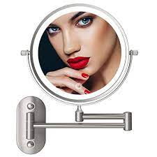 8 led lighted wall mounted makeup