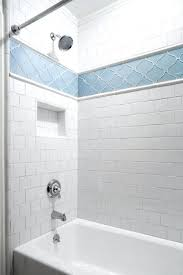tiles glass tile accent strip in shower master bath spa strips bathroom height creative decoration ceramic