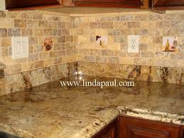 kitchen backsplash tile accents by linda paul in subway travetine tile