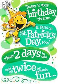 Birthday On Day Card Happy O Birthday St Patrick S Day Card Greeting Cards Hallmark