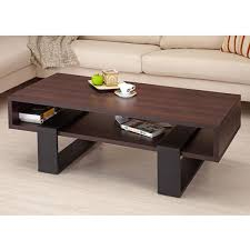 dark wood living room tables