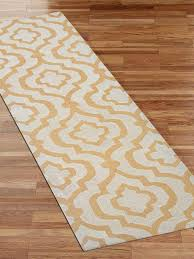 white and gold area rug hand tufted wool runner 26x10 area rug geometric white gold