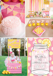 pink lemonade stand themed birthday party with such cute ideas via kara s party ideas