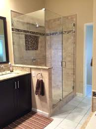 newly remodeled stand up shower with beautiful tile work bathroom bath house and master bathrooms ideas
