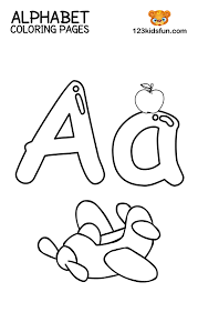 You can learn names of common colours in english here with pictures and pronunciations. Free Printable Alphabet Coloring Pages For Kids 123 Kids Fun Apps
