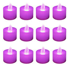 Candle Lights Home Depot Lumabase Purple Led Tealights Box Of 12