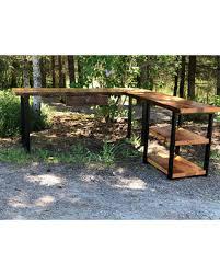 Corner desk office Cool Shaped Desk With Shelves Industrial Desk Reclaimed Wood Desk Corner Desk Better Homes And Gardens New Savings On Shaped Desk With Shelves Industrial Desk