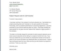 letter request for promotion promotion request letter smart letters