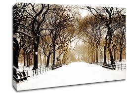 winter park sepia landscape winter park sepia canvas art on sepia canvas wall art with sepia canvas art wallartdirect uk