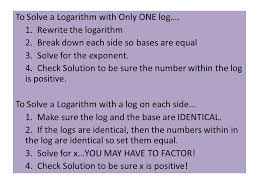to solve a logarithm with only one log 1 rewrite the logarithm 2
